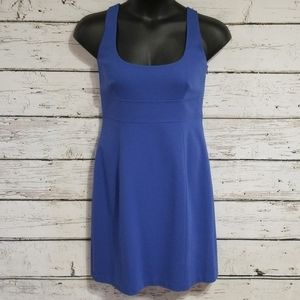 Elie Tahari Blue Sheath Dress Sz L